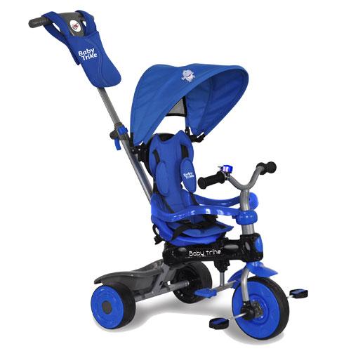 Tricicleta cu copertina 4 in 1 Baby Trike Hippo Blue