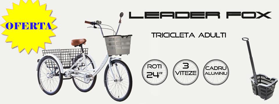 Tricicleta adulti Leader Fox
