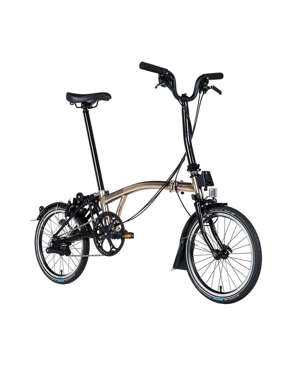 Bicicleta pliabila Brompton H6L/Ni/Bk Nickel Edition 2018
