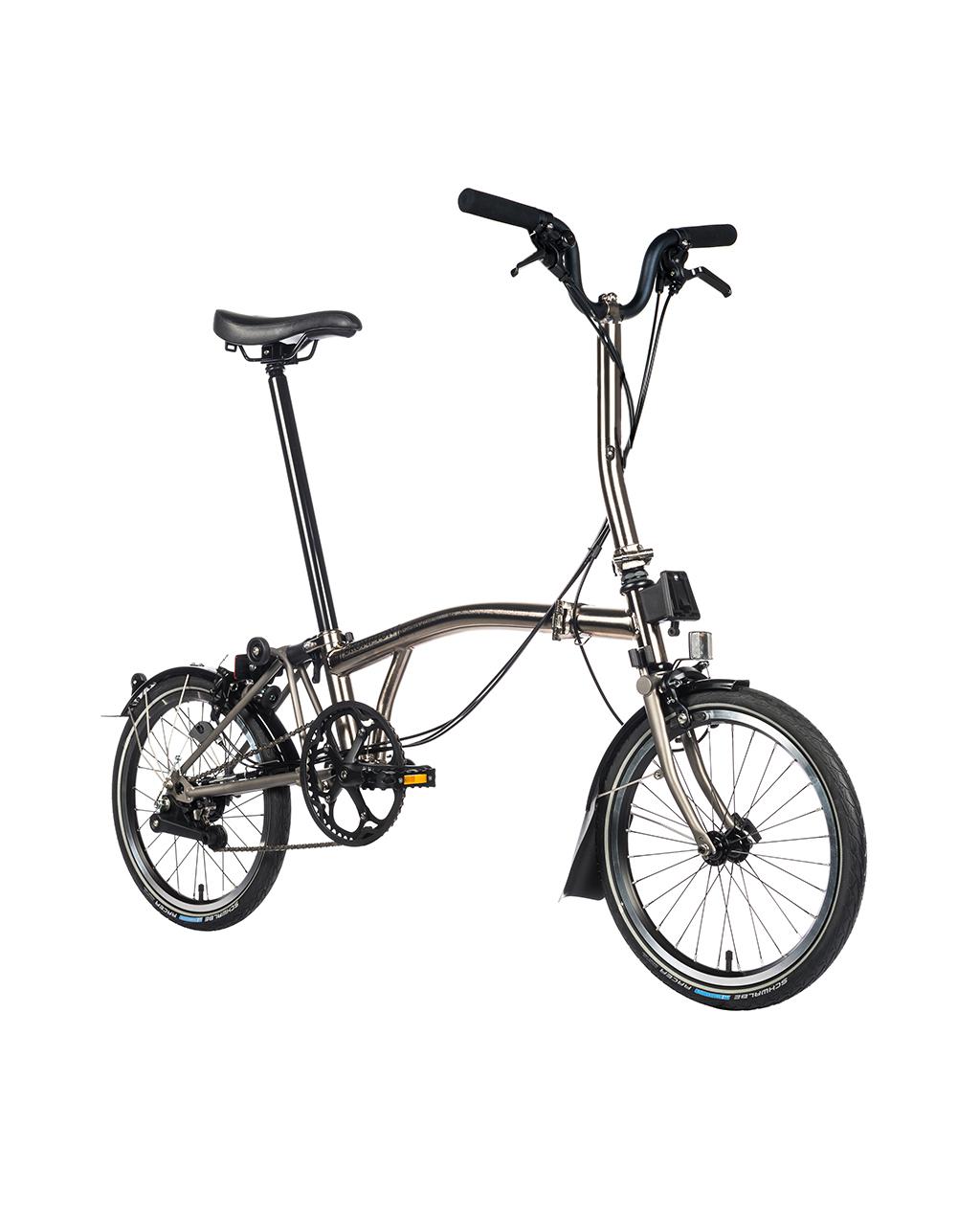 Bicicleta pliabila Brompton H2L/Ni/Ti Nickel Edition 2018