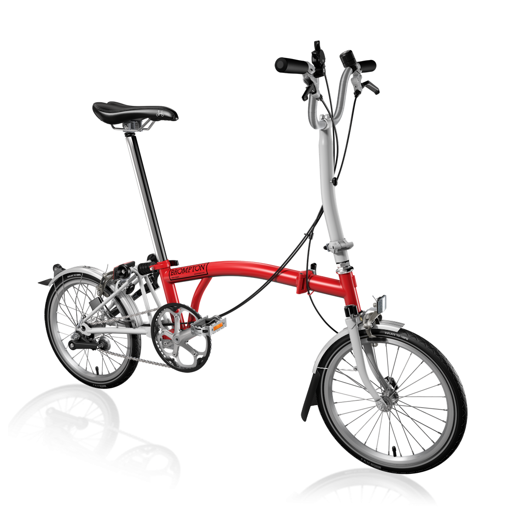 Bicicleta pliabila Brompton H3L/RD/WH
