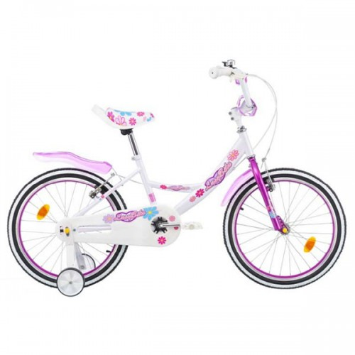 Bicicleta pentru copii Chipolino Lusy 20 - alb-violet