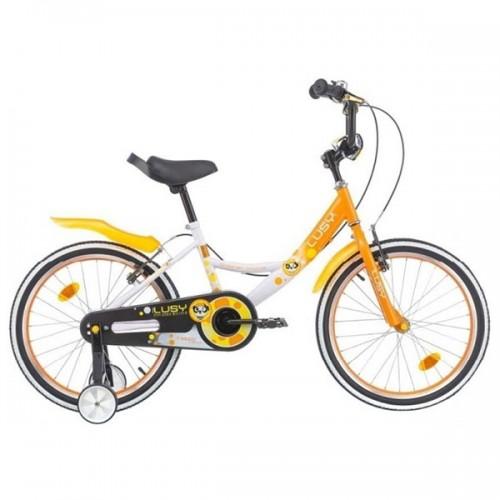 Bicicleta pentru copii Chipolino Lusy 20 - alb-portocaliu