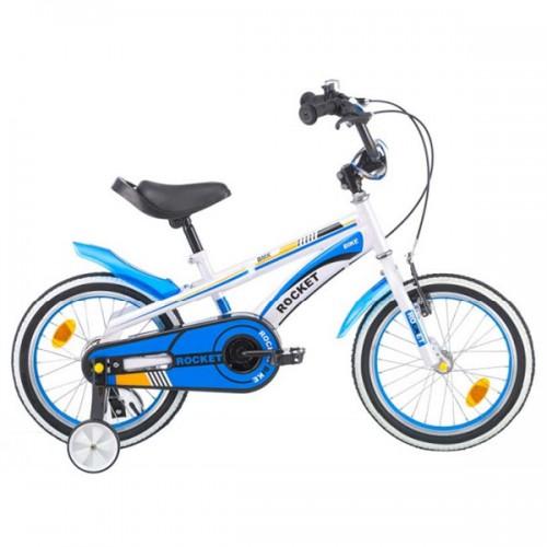 Bicicleta pentru copii Chipolino Rocket 16 - alb-albastru