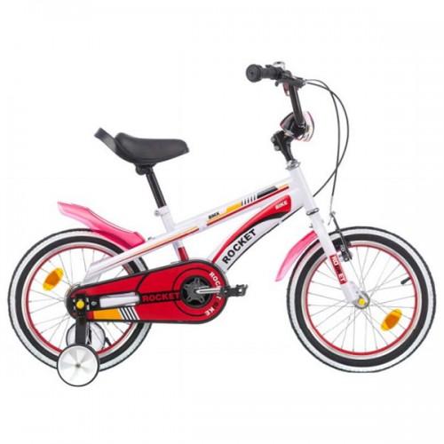 Bicicleta pentru copii Chipolino Rocket 16 - alb-rosu