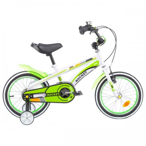 Bicicleta pentru copii Chipolino Rocket 16 - alb-verde