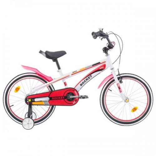 Bicicleta pentru copii Chipolino Rocket 20 - alb-rosu