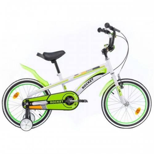 Bicicleta pentru copii Chipolino Rocket 20 - alb-verde