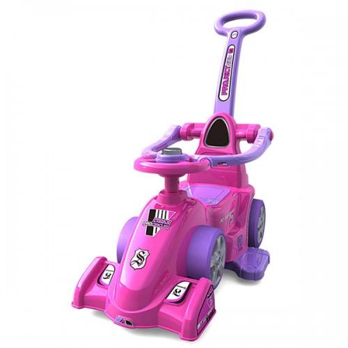 Masinuta de impins Chipolino Formula cu maner - pink