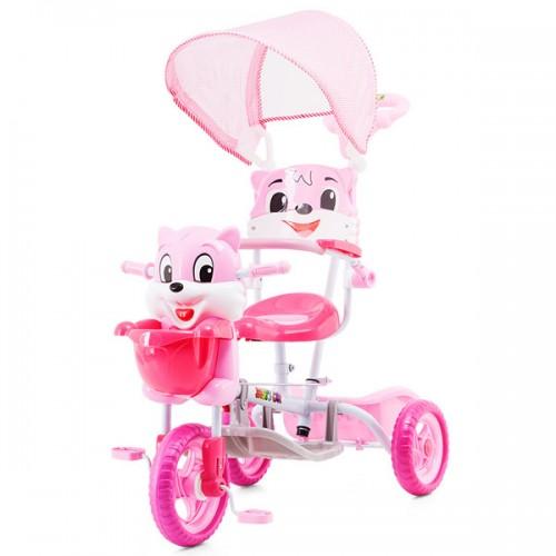 Tricicleta cu copertina Chipolino Bear pink