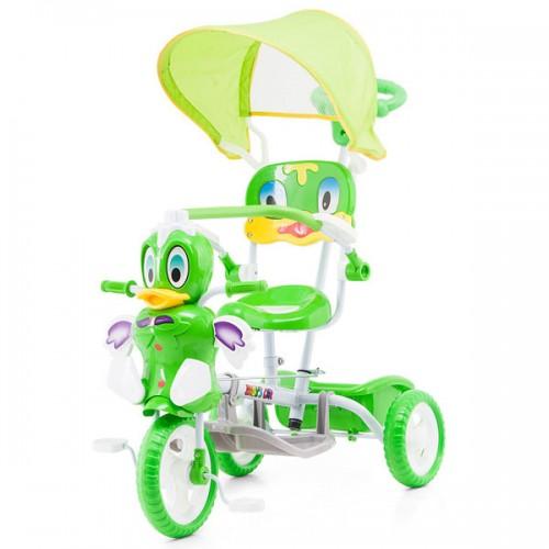 Tricicleta cu copertina Chipolino Duck green