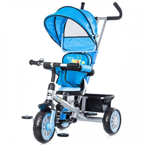 Tricicleta cu copertina si sezut reversibil Chipolino Twister - blue