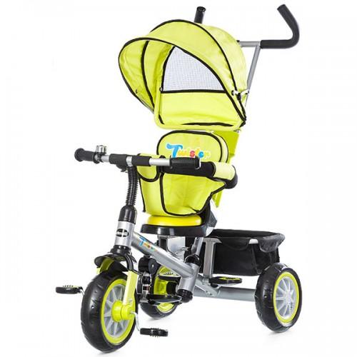 Tricicleta cu copertina si sezut reversibil Chipolino Twister - lime