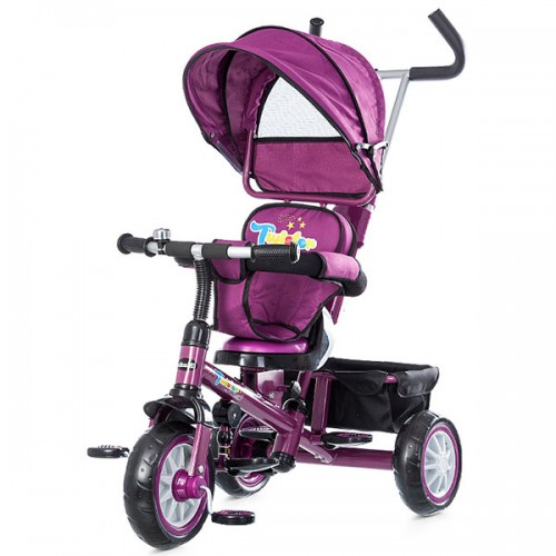Tricicleta cu copertina si sezut reversibil Chipolino Twister - roz