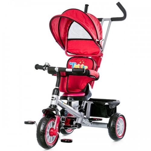Tricicleta cu copertina si sezut reversibil Chipolino Twister - rosu