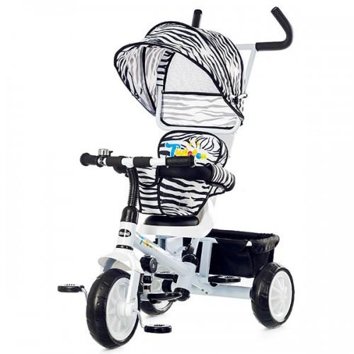 Tricicleta cu copertina si sezut reversibil Chipolino Twister - alb