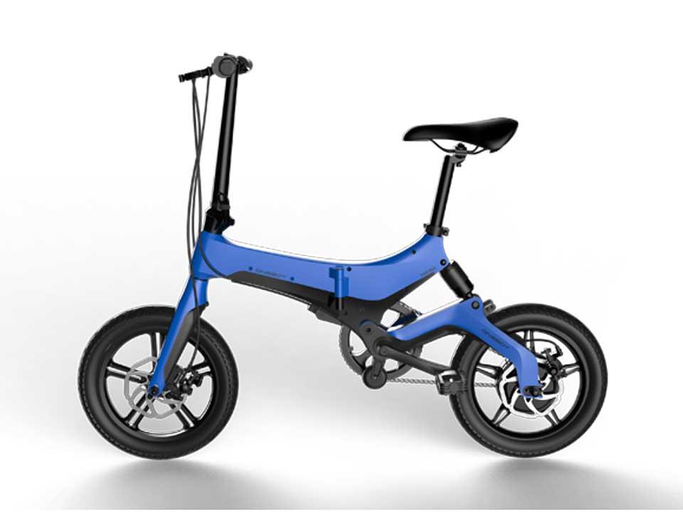 Bicicleta pliabila electrica Onebot S6 - albastru