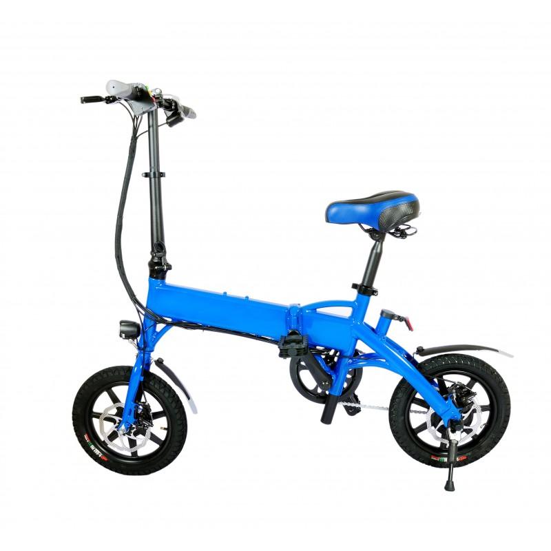 Bicicleta pliabila electrica B18 - albastru