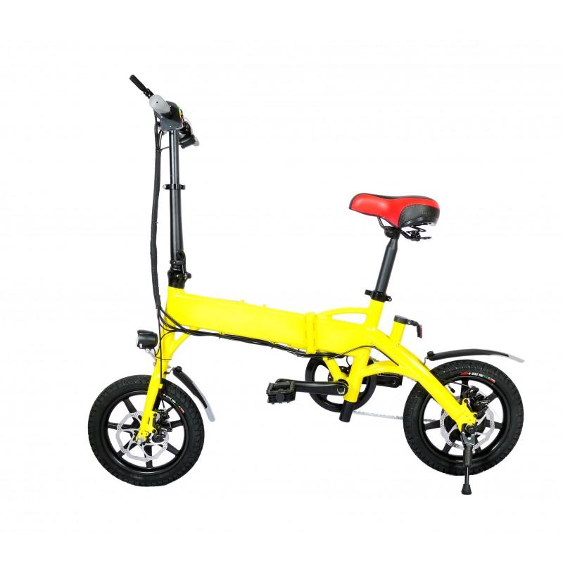 Bicicleta pliabila electrica B18 - galben