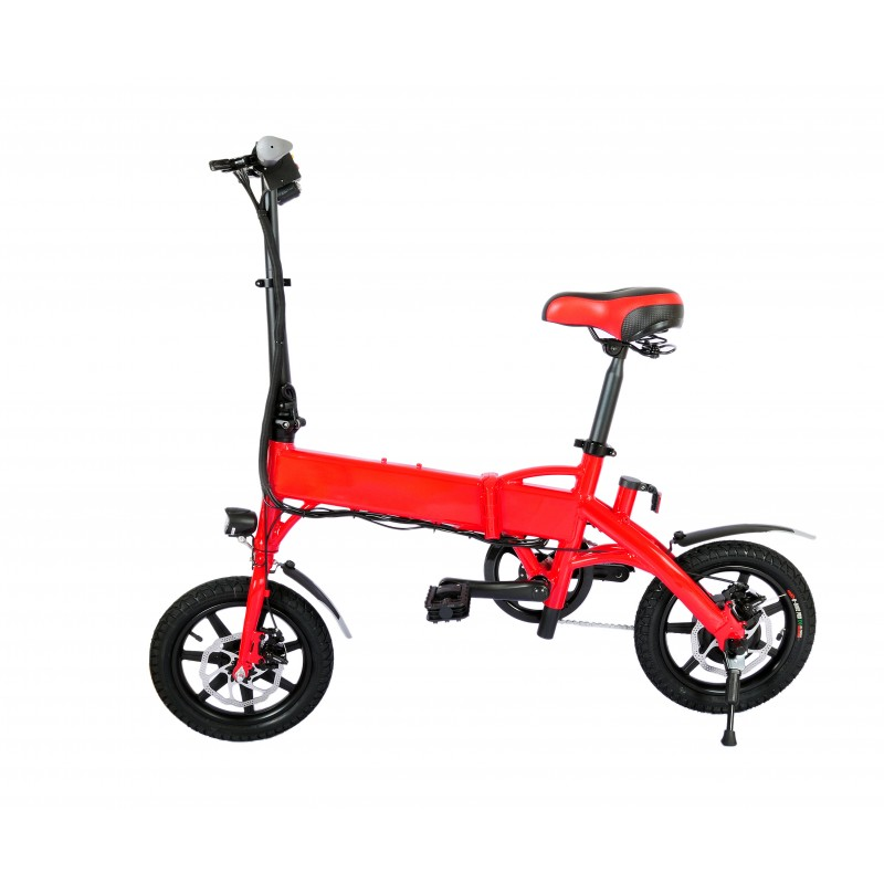 Bicicleta pliabila electrica B18 - rosu