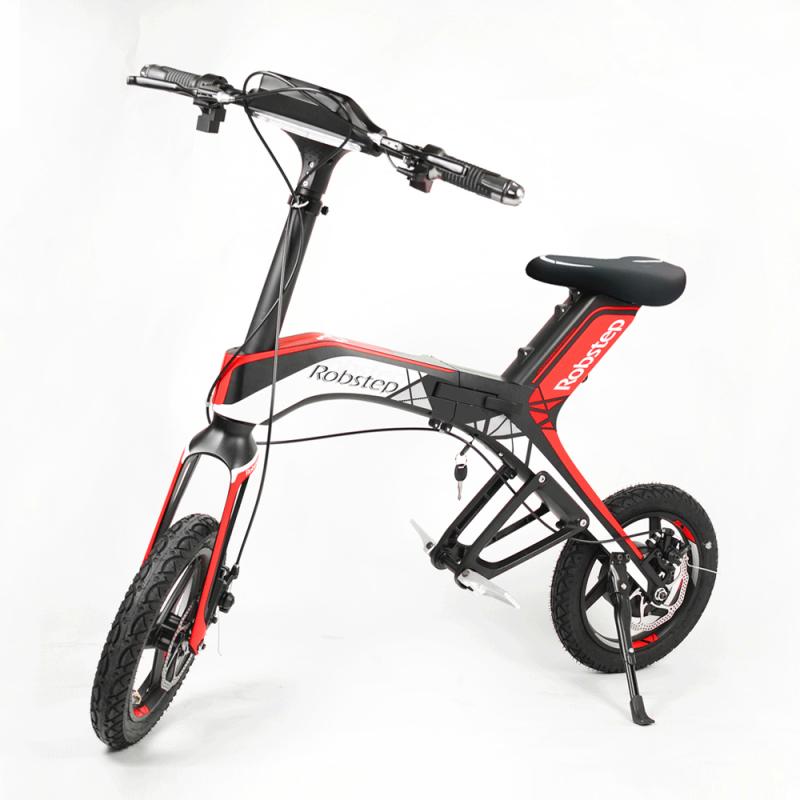Bicicleta pliabila electrica Robstep X1 - rosu