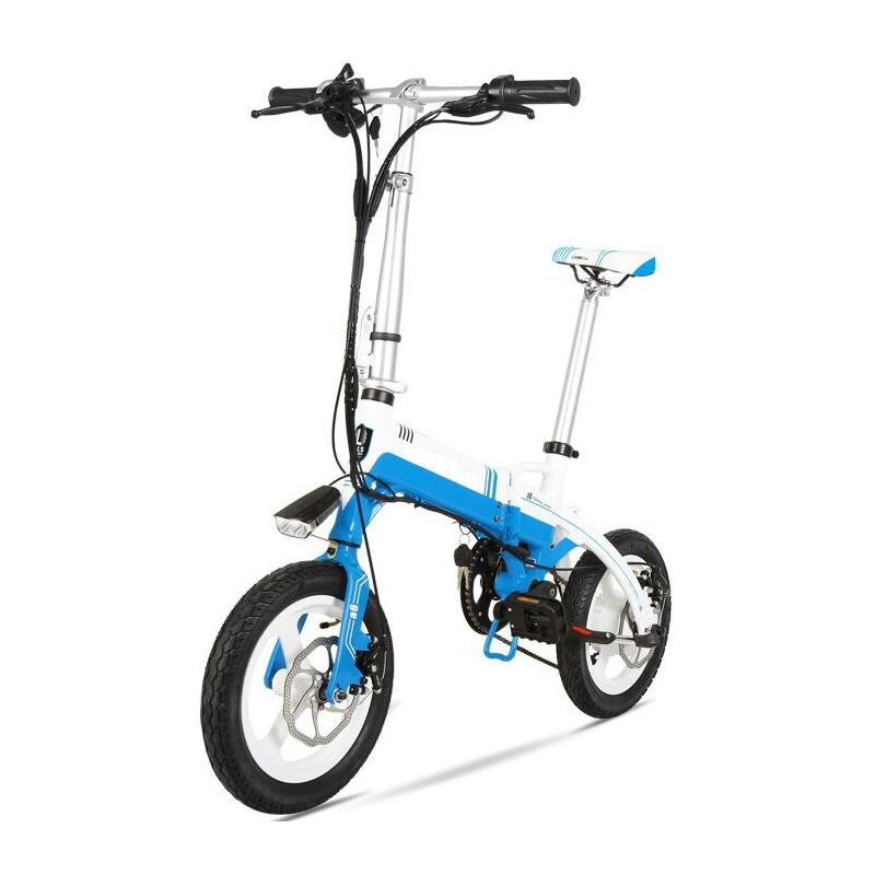 Bicicleta pliabila electrica Onebot S1 - alb-albastru
