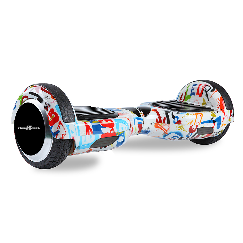 Scooter electric FreeWheel F1 - graffiti alb