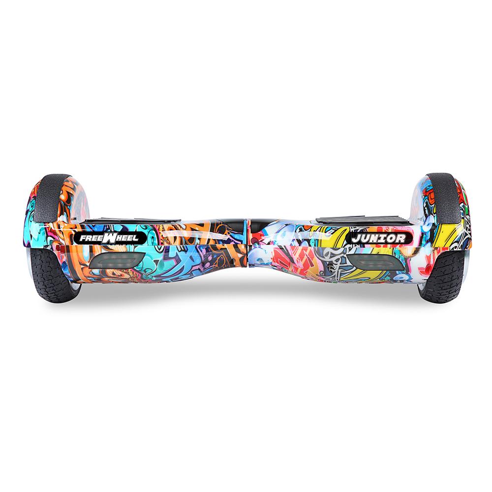 Scooter electric FreeWheel Junior - graffiti albastru