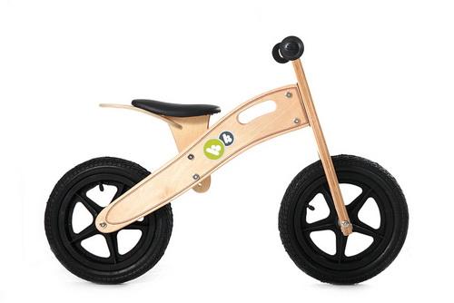 Bicicleta din lemn Kinderkraft Runner Deluxe Natur