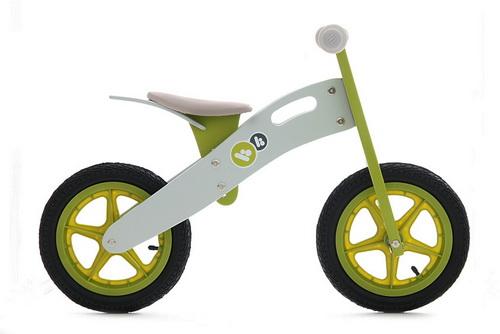 Bicicleta din lemn Kinderkraft Runner Deluxe Green