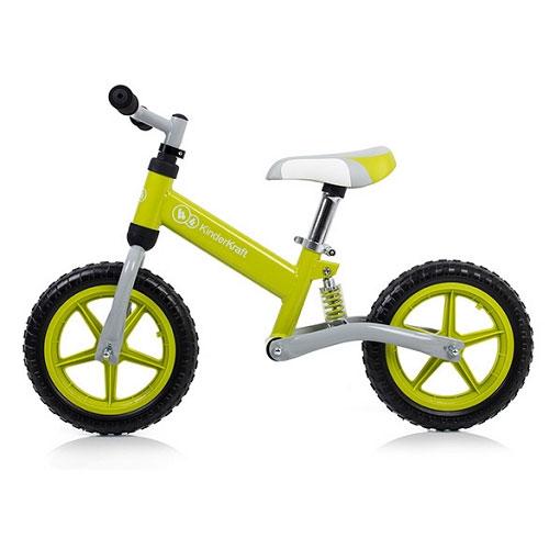 Bicicleta fara pedale Kinderkraft EVO Green