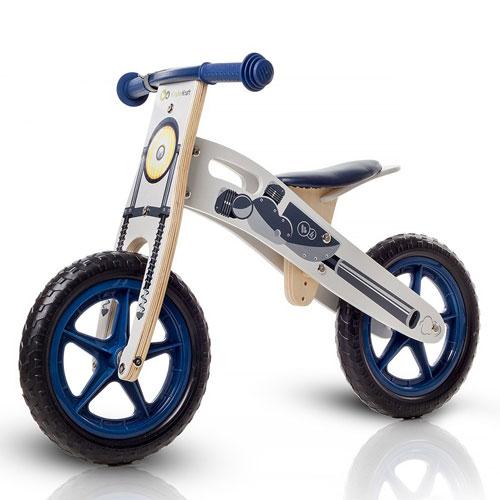 Bicicleta din lemn fara pedale Kinderkraft Runner Moto Deluxe