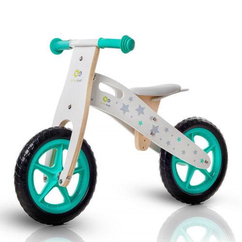 Bicicleta din lemn fara pedale Kinderkraft Runner Stars Deluxe