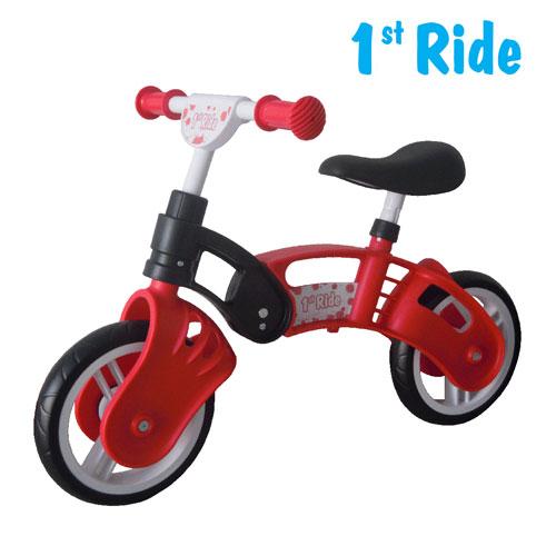 Bicicleta fara pedale Kinderkraft 1 St Ride - rosu
