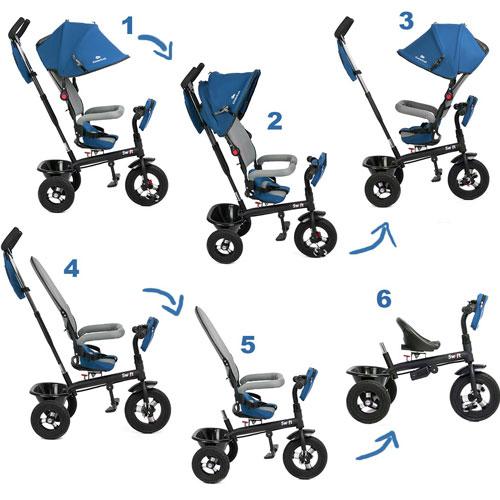 Tricicleta 6 in 1 Kinderkraft Swift - Blue