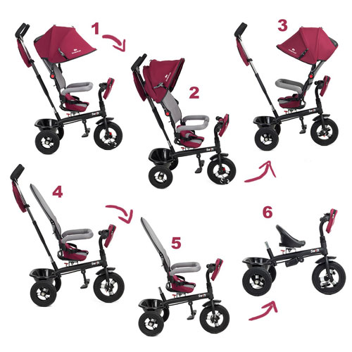 Tricicleta 6 in 1 Kinderkraft Swift - Purple