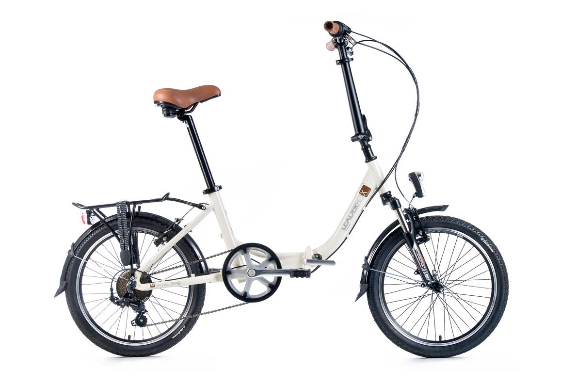 Bicicleta pliabila Leader Fox CITYZOOM - ivoire
