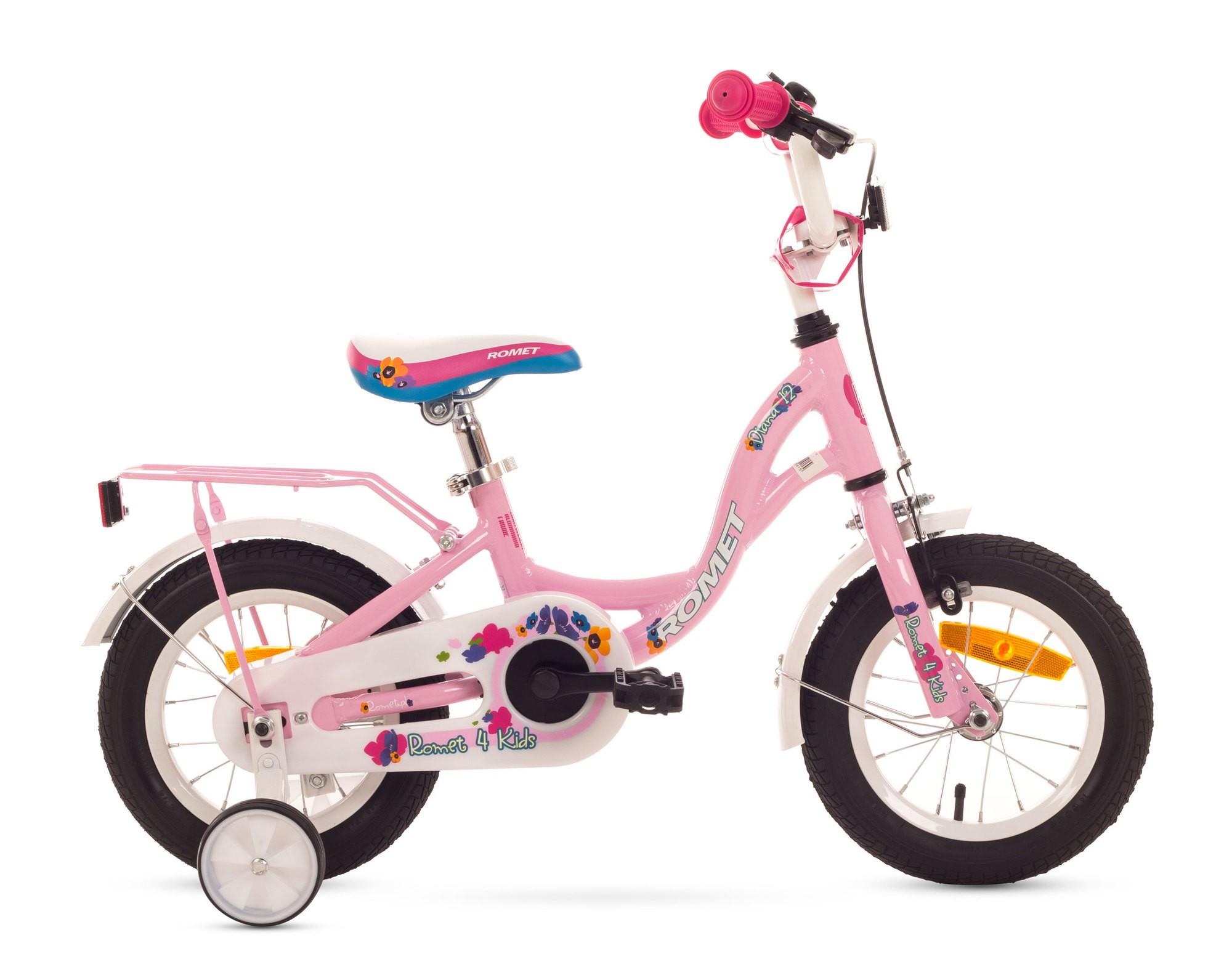 Bicicleta de copii Romet Diana 12 - roz