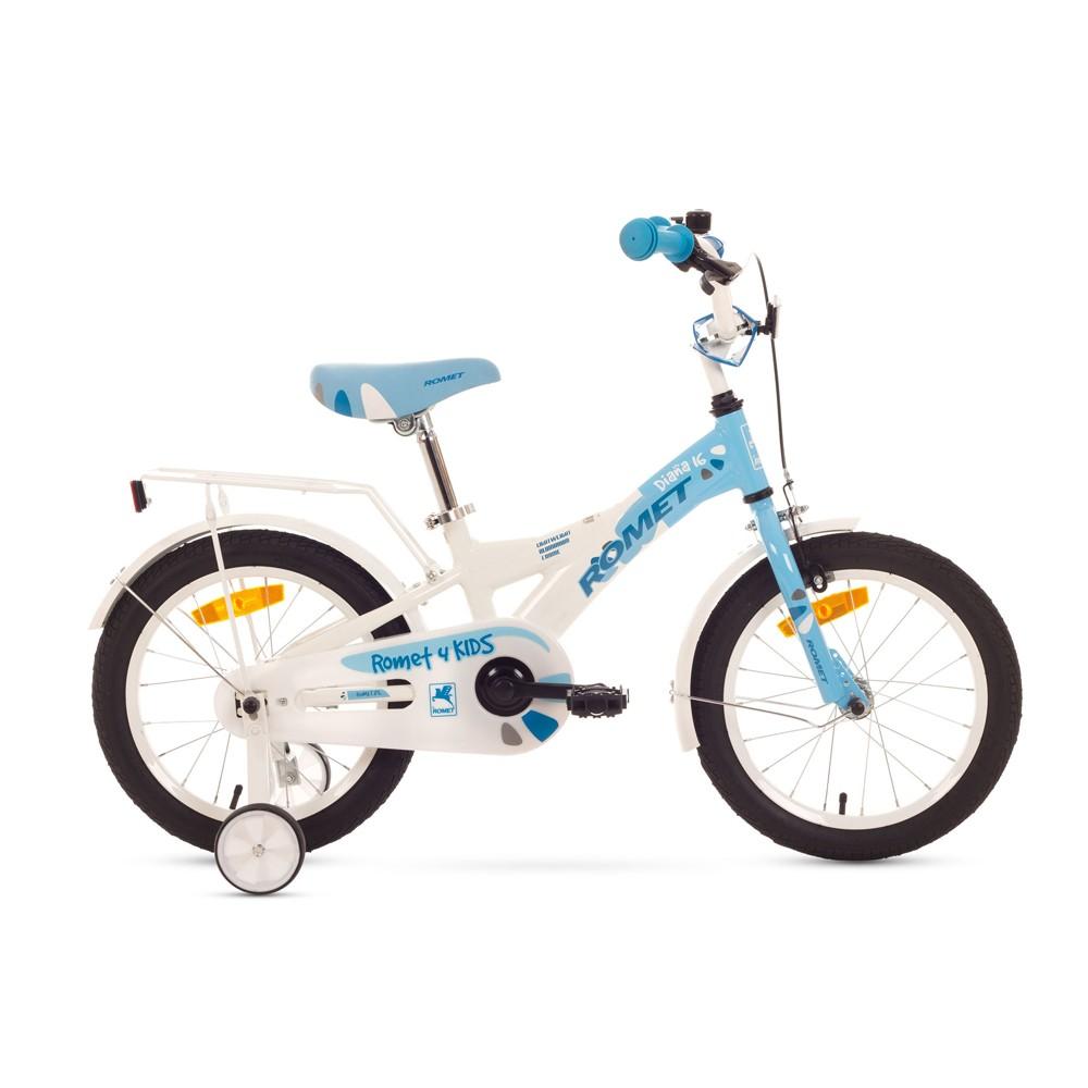Bicicleta de copii Romet Diana S 16 - albastru-alb
