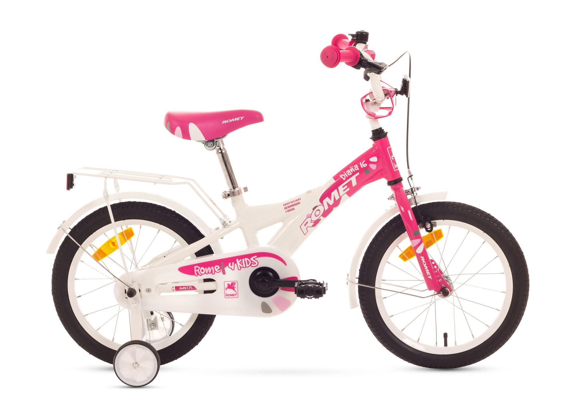 Bicicleta de copii Romet Diana K 16 - roz-alb