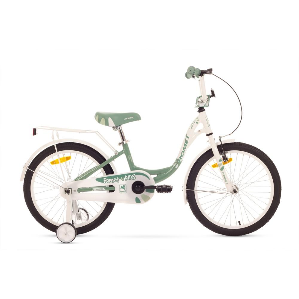Bicicleta de copii Romet Diana 20 - alb-verde