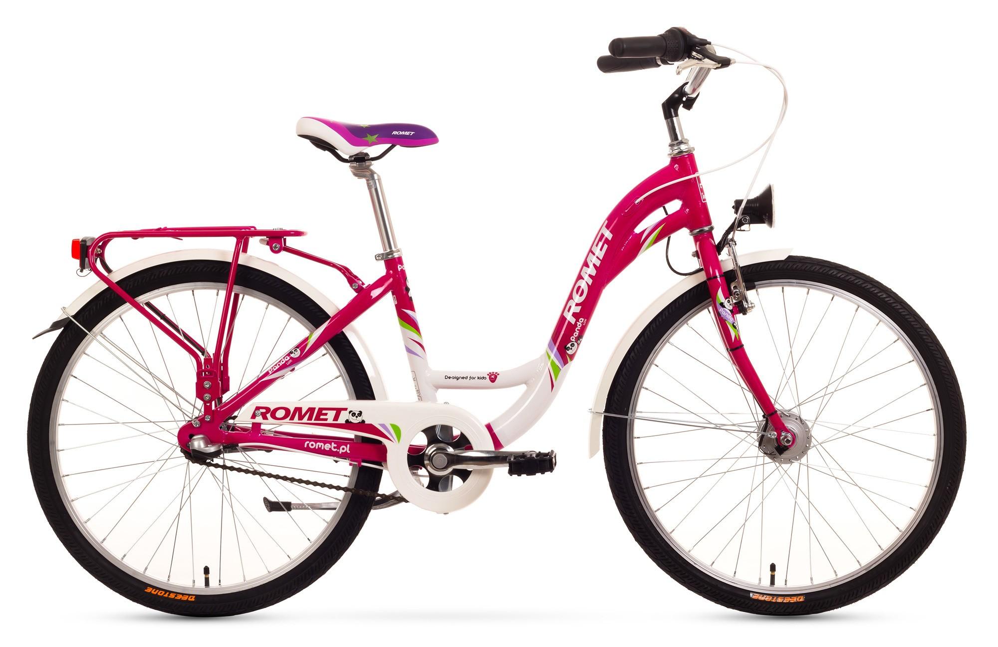 Bicicleta de copii Romet Panda 24 lux - roz