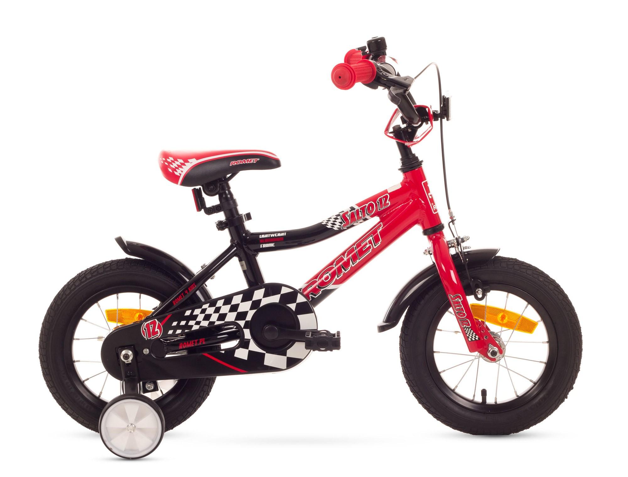 Bicicleta de copii Romet Salto 12 - rosu-negru