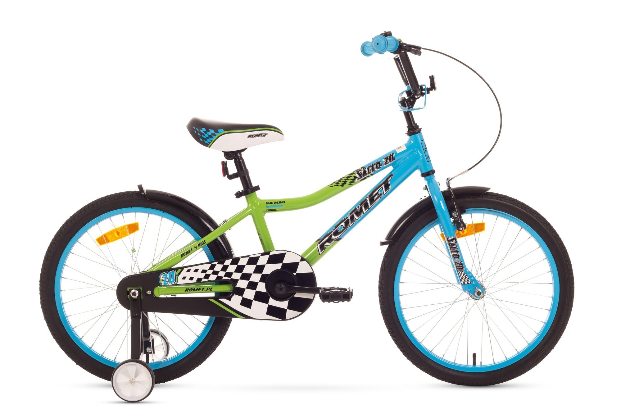 Bicicleta de copii Romet Salto 20 - albastru-verde