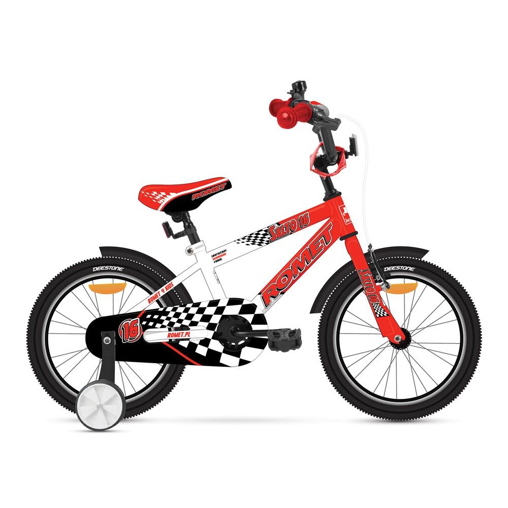 Bicicleta de copii Romet Salto G 16 - rosu-alb