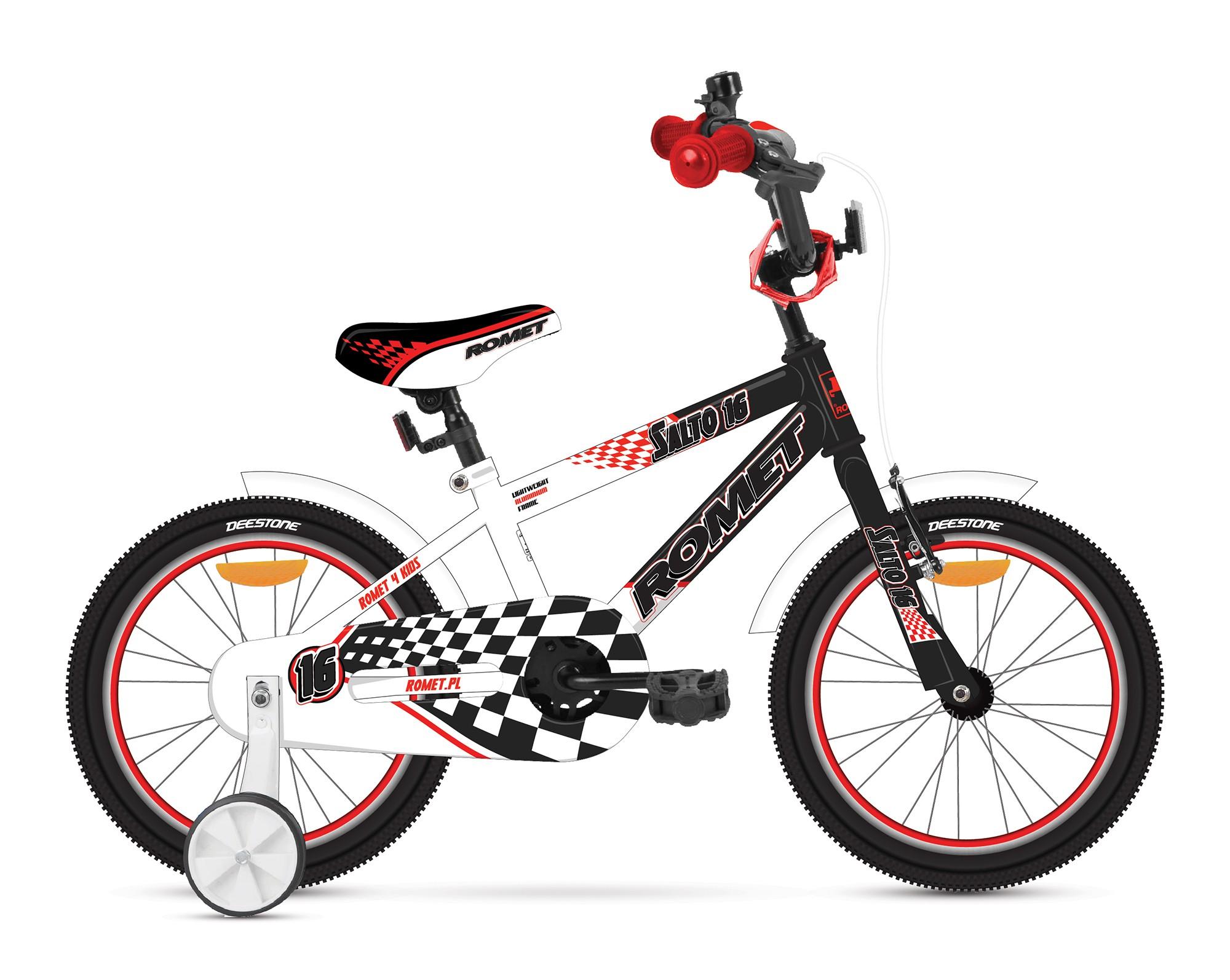 Bicicleta de copii Romet Salto P 16 - negru-alb