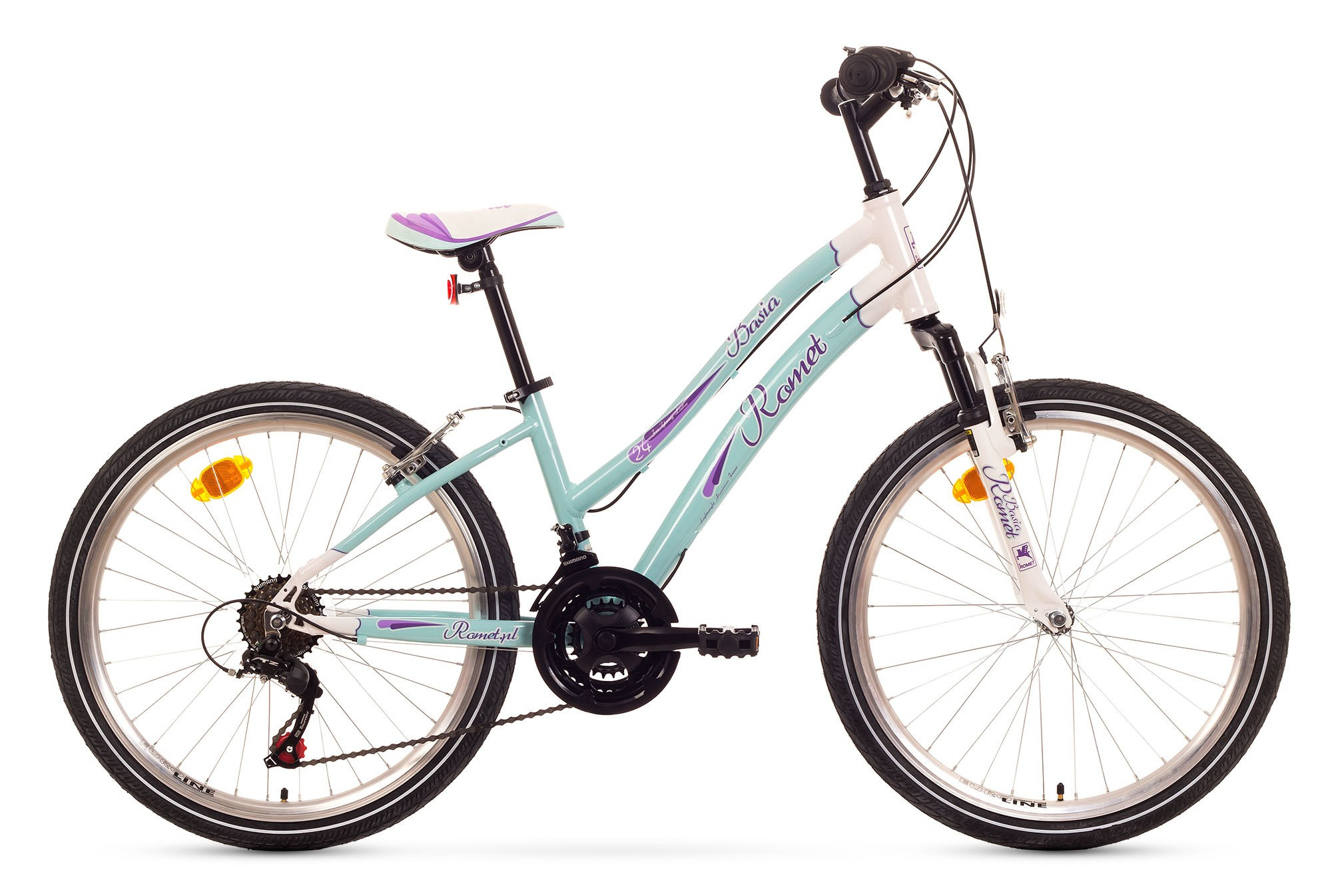 Bicicleta de copii Romet Basia 24 - albastru