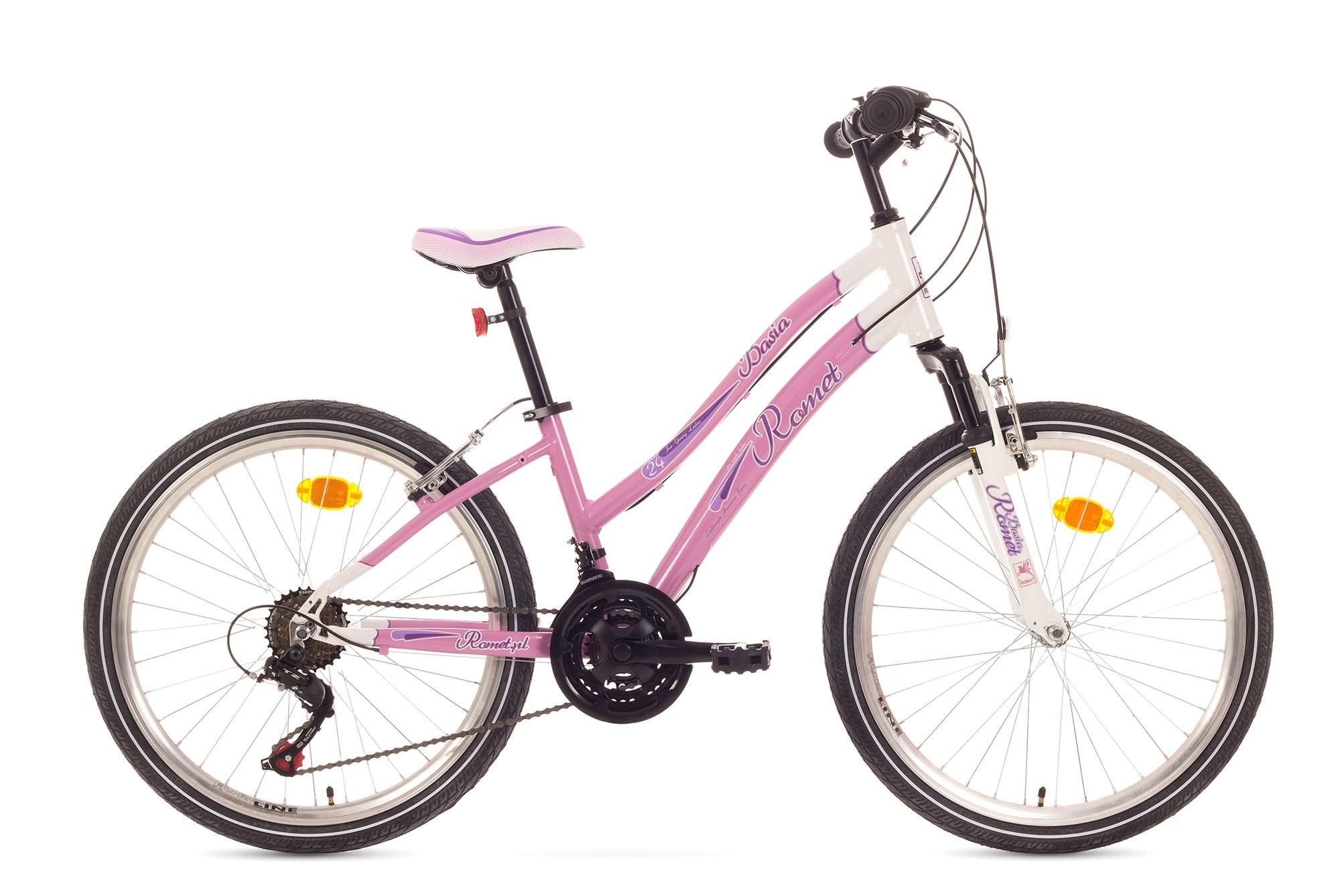 Bicicleta de copii Romet Basia 24 - Roz