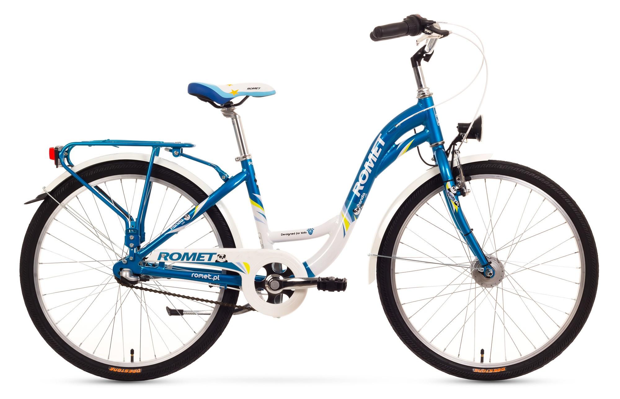 Bicicleta de copii Romet Panda 24 lux - albastru