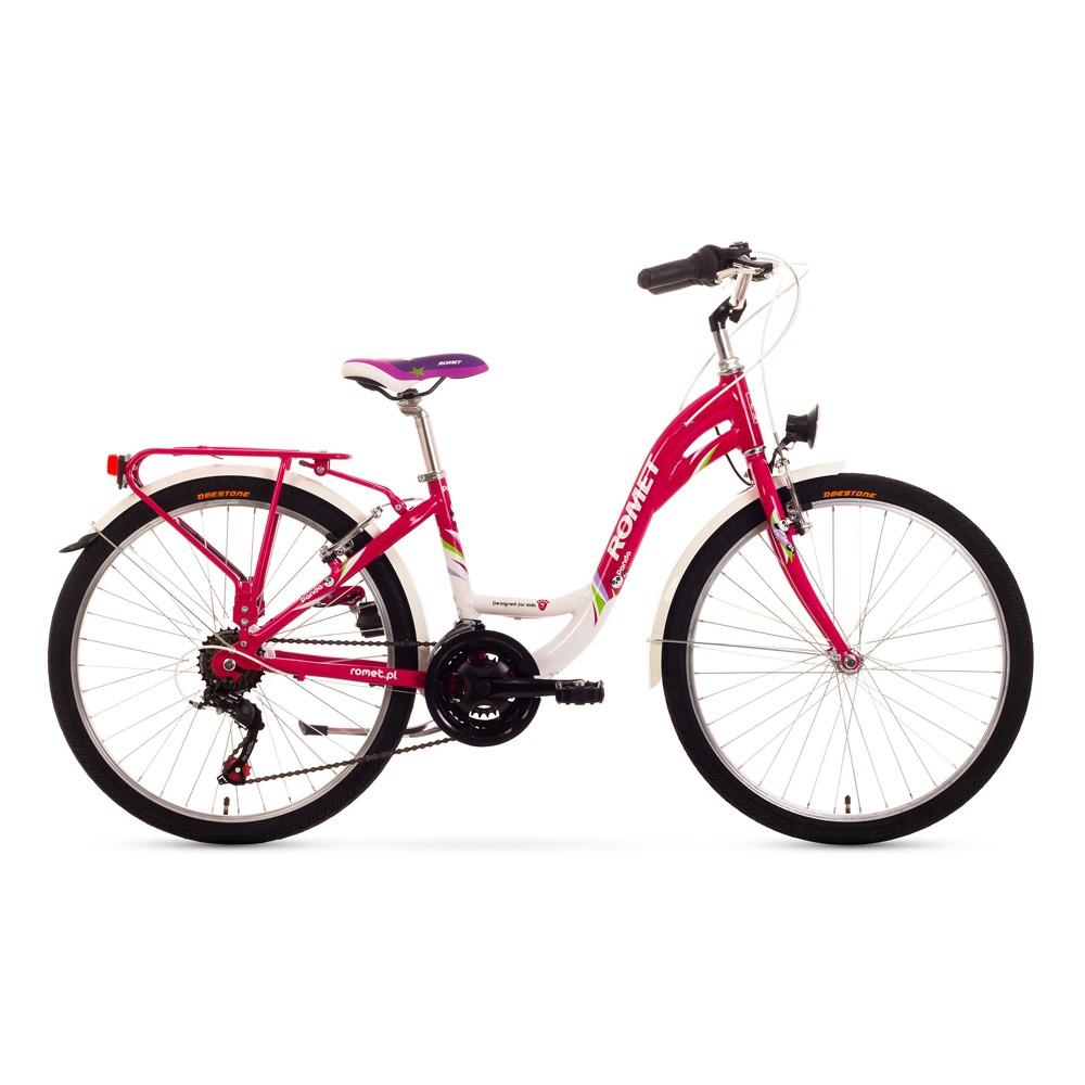 Bicicleta de copii Romet Panda 24 - roz